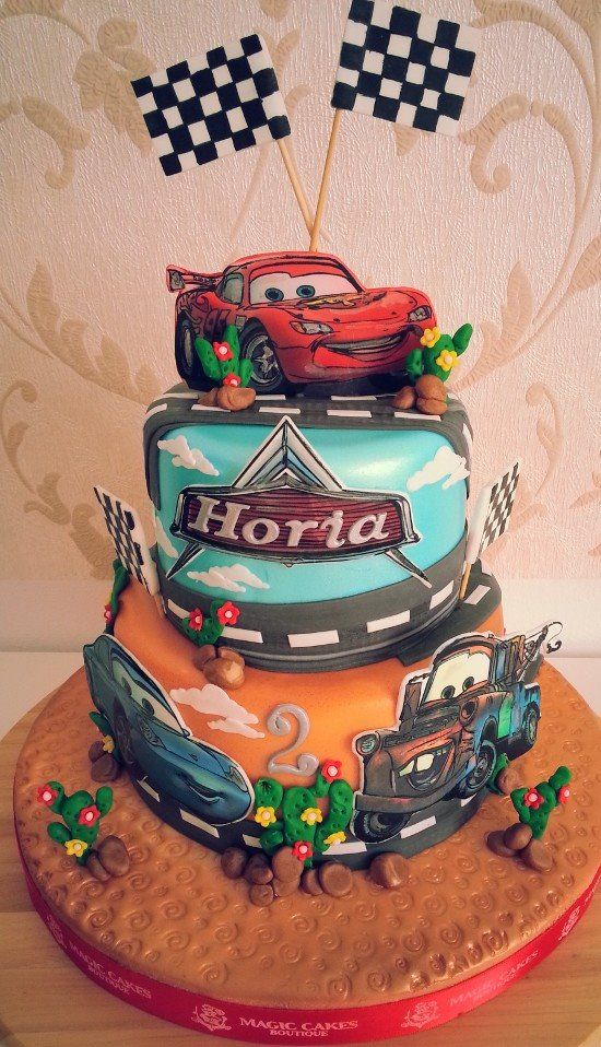 Cars themed birthday cakes Cars cakes ideas Part 1 Crust N Cakes