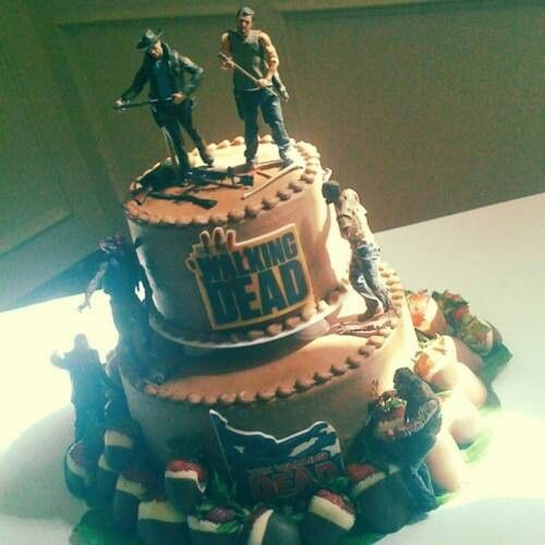 walking dead birthday cake walking dead cake ideas walking dead themed cakes 8345