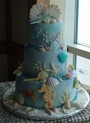 Beach Wedding Themed Cakes