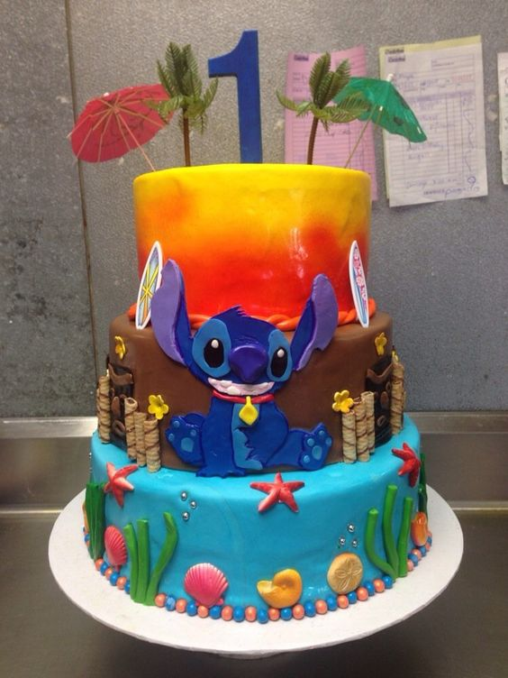 Some Cool Lilo Amp Stitch Themed Cakes Lilo Amp Stitch Cakes