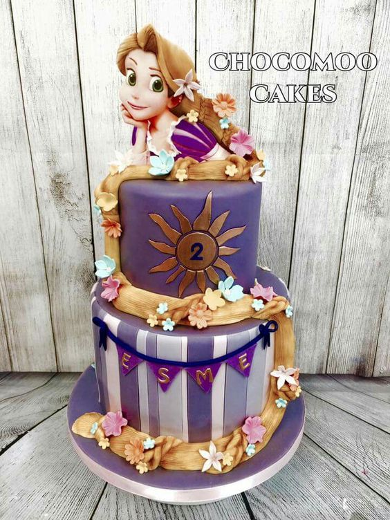 Some Cool Rapunzel themed cakes Tangled cakes Ideas