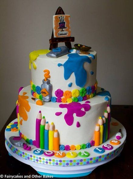 Some Cool Art Themed Cakes To Inspire You